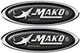 Mako Boat obovoid decals. Remastered name plate for boat restoration project