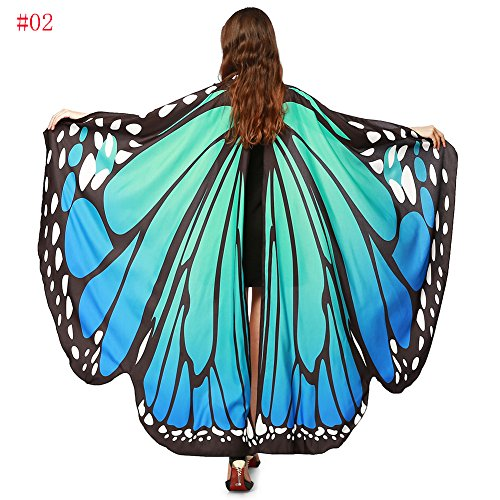 Russian And Costumes Dance (Yahua Star Womens Halloween/Party Butterfly Wings Shawl Cape Soft Polyester Scarf Fairy Poncho Shawl Wrap Costume)