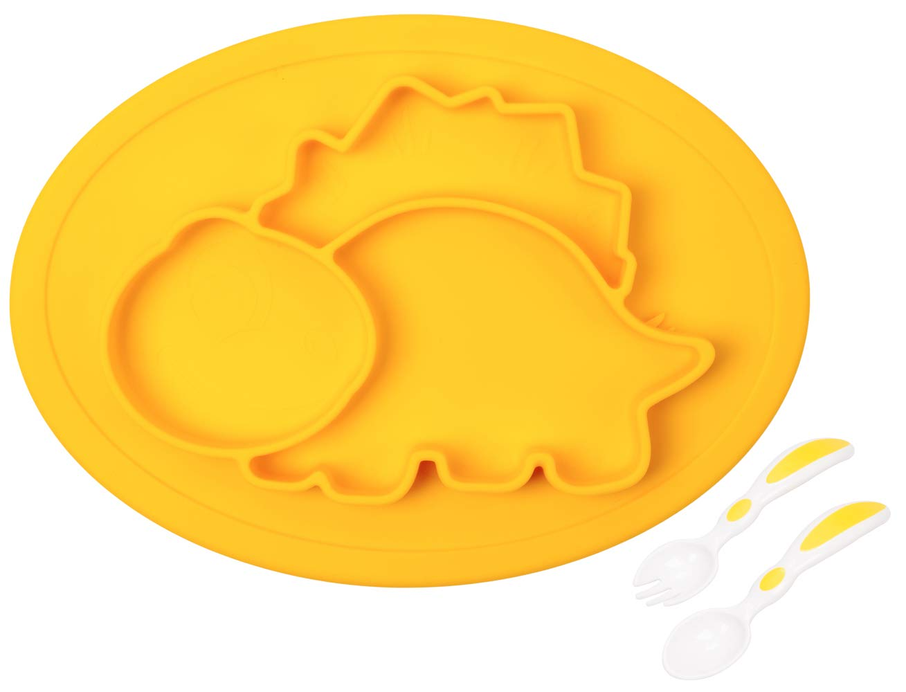 Baby Silicone Placemat, Non-Slip Feeding Plate for Toddlers Babies Kids with Strong Suction Fits Most Highchair Trays BPA-Free FDA Approved, Dishwasher and Microwave Safe Novos