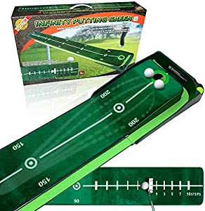 4.25 Inches - Infinity Putting Mat - Golf Putting Mat, Hight-Tech Carpet with Track Visibility by 4.25 Inches