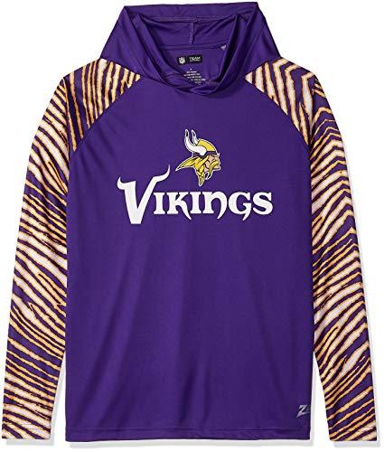 Zubaz Men's Minnesota Vikings, Zebra Sleeves, X-Large