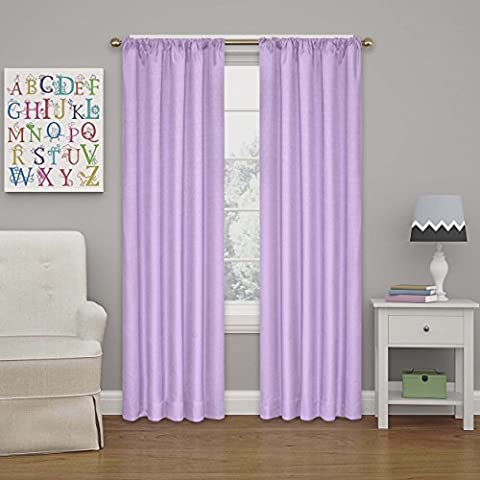 Eclipse 10707042X054LPR Kendall 42-Inch by 54-Inch Thermaback Blackout Single Panel, Light Purple (Eclipse 42x63)