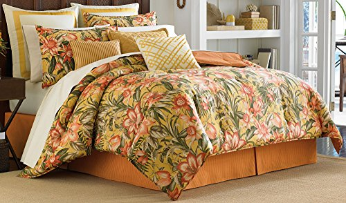 Tommy Bahama Tropical Lily King Comforter Set King Golden yellow
