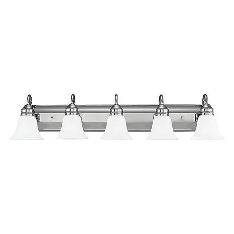 Sea Gull Lighting Gladstone FiveLight Bath Or Wall Light - Five light bathroom vanity light