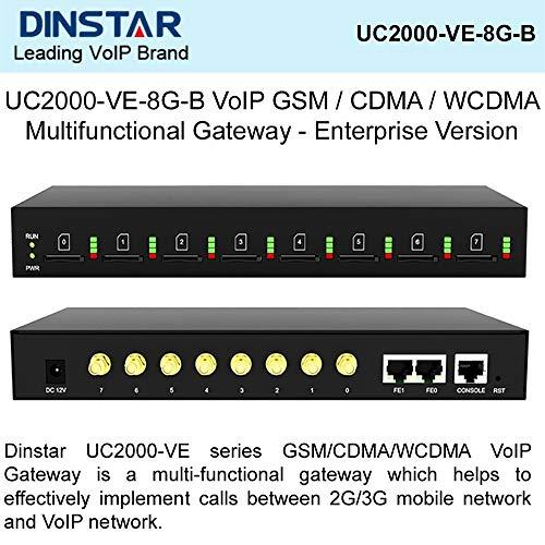 DINSTAR UC2000-VE-8G-B VoIP GSM/CDMA/WCDMA Multifunctional Gateway - Enterprise Version