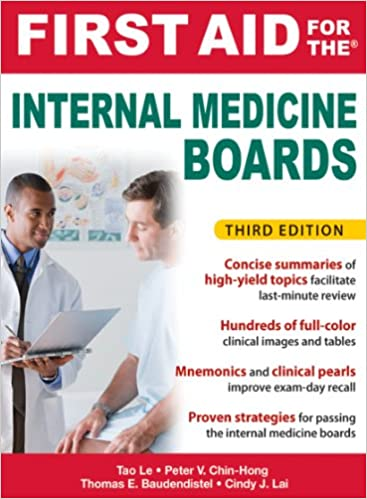 First Aid for the Internal Medicine Boards, 3rd Edition ...