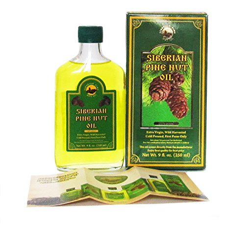 SUPERIOR GRADE PINE NUT OIL - 9 oz/250 ml. Extra Virgin, Authentic and 100% Natural. Unfiltered, First Press Only, Cold-pressed. Pressed from Wild Harvested, Organic, Raw Pine Nuts. by Siberian Pine Nut Oil