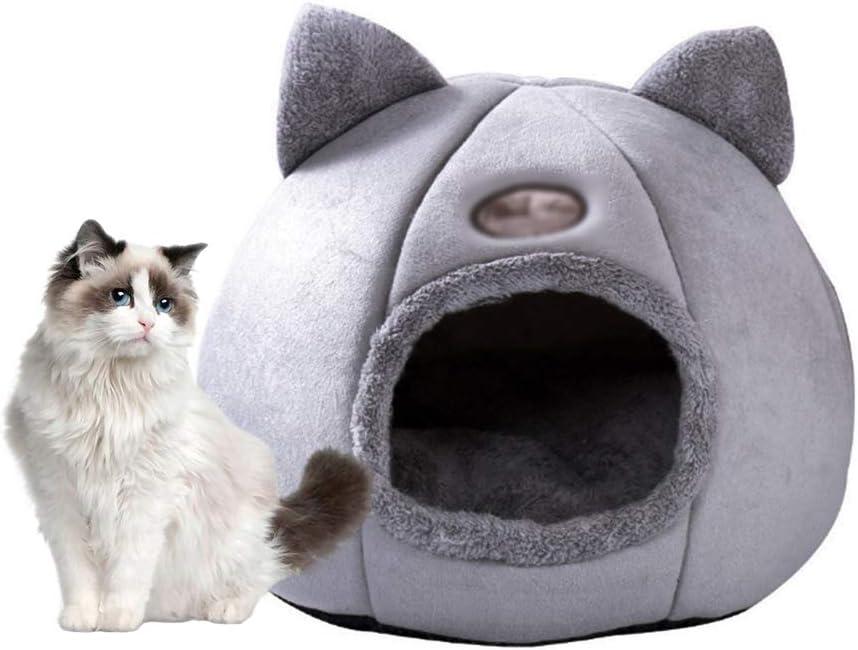 Pedkit Cat Bed Warm Cat Bed Soft Comfortable Pet Nest Indoor Semi Enclosed Pet Cat Dog Sleeping Tent House Amazon Co Uk Pet Supplies