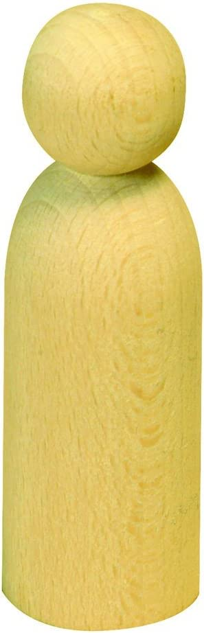10 cm ca Holzkegel Holzfiguren Pöppel