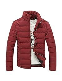 Ellove Vogue Men's Breathable Coat Slim Fit Parka Outerwear Zipper Puffer Jacket