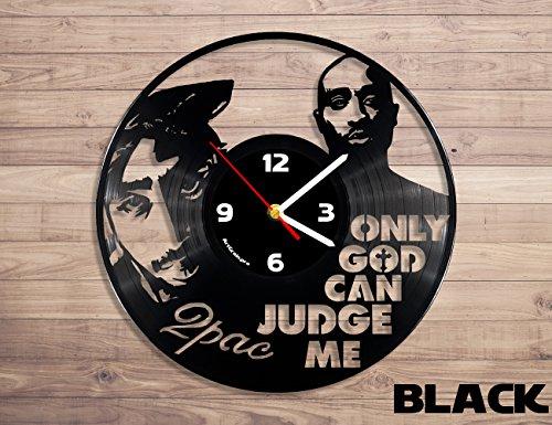 Tupac Shakur vinyl record wall clock