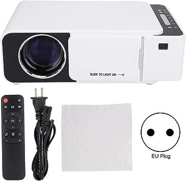 Opinión sobre Proyector HD, portátil de Alta definición 4: 3/16: 9 Proyector LED en Varios Idiomas Blanco para la versión estándar T6 Protección Ocular Imágenes Suaves y claras(EU)