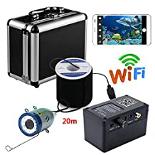 MOUNTAINONE HD Wifi Wireless 20M Underwater Fishing Camera Video Recording For IOS Android APP Supports Video Record and Take Photo , with 1000TVL camera