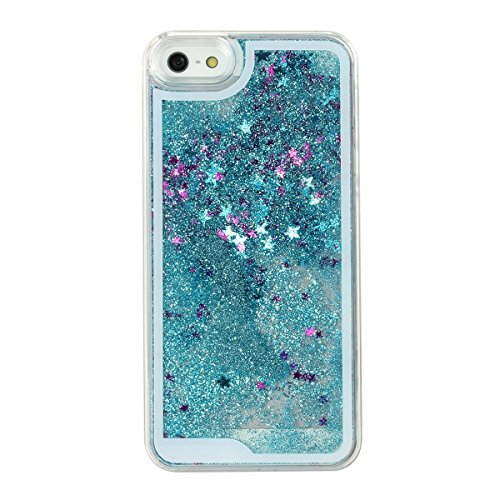 Shopping_Shop2000 Sparkly Bling Stars and Glitter Flowing Liquid Water Aqua Movable Dynamic Hard Cover Case For iphone 6 6s (4.7