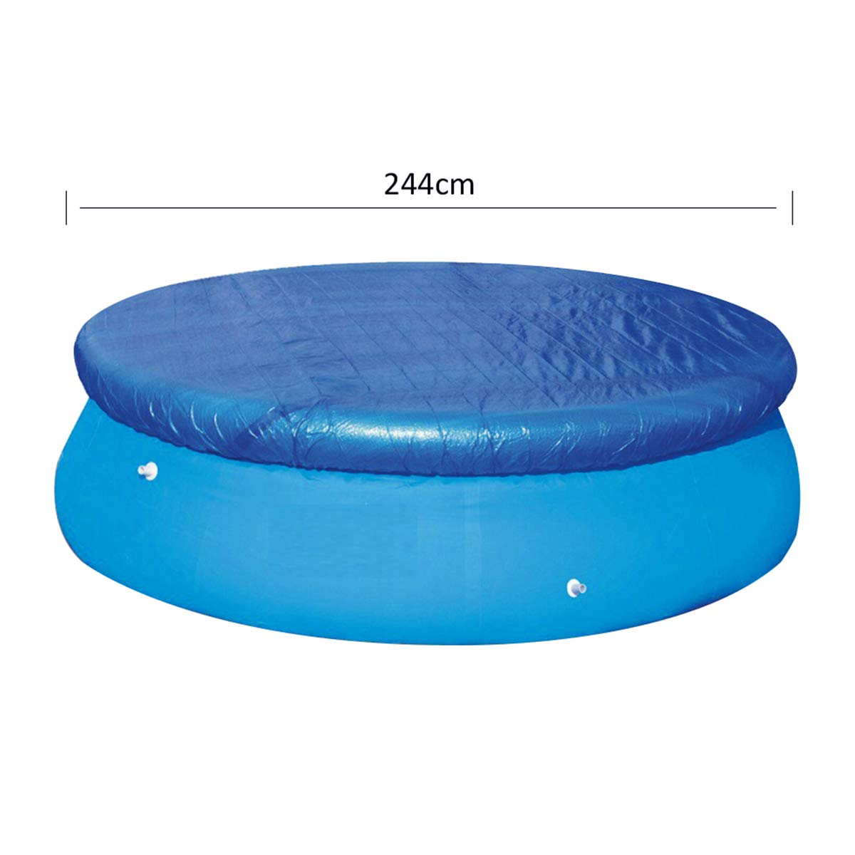 Amazon.com : VORCOOL 8ft Round Swimming Pool Covers for Frame Pools ...