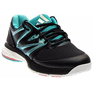 Adidas Women's Stabil Boost Volleyball Shoe, Core Black/Sock Green/White, 10 M US