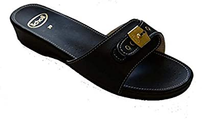 b4d7fc9fe237 Scholl Leather Look Low Black  Amazon.co.uk  Shoes   Bags