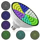 Bonbo 2019 Upgrade Version Led Underwater Color Pool Lights, 120V 35W RGB Color Changing Pool Light Bulb with Color Memory 300-500w Traditional Bulb Replacement for Most Pentair Hayward Light Fixture