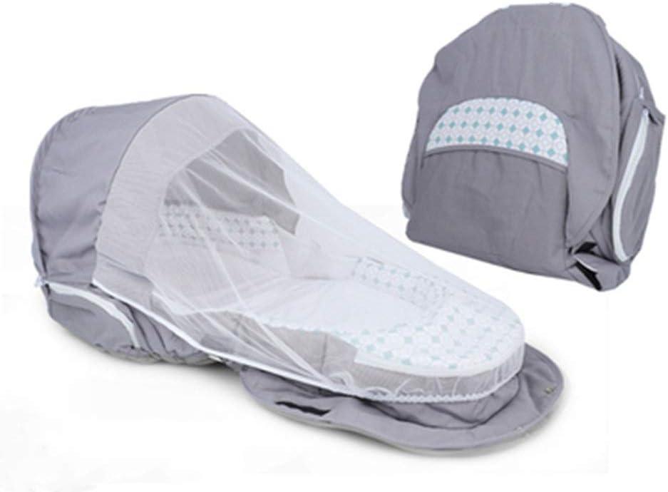 ベビーベッド グレー3-1プレミアムポータブルおむつ袋旅行バシネットと変更ステーションのための初心者パパとママ (色 : グレー, Size : One size)