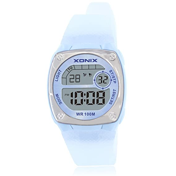 Reloj digital chico chica reloj multifunción luminosa cronómetro de alarma a prueba de agua natación led-A: Amazon.es: Relojes