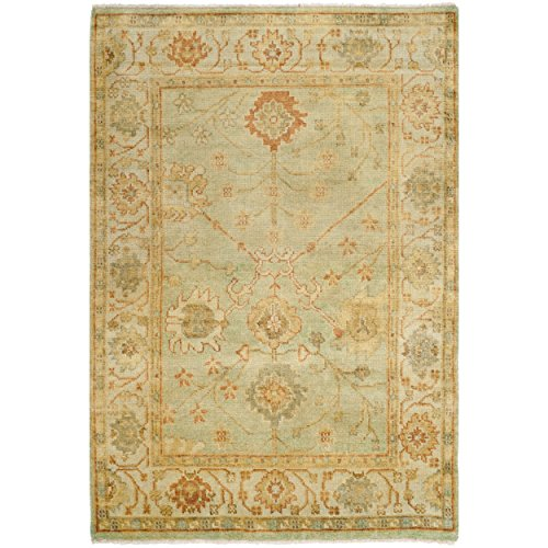 Safavieh Oushak Collection OSH117B Hand-Knotted Dark Green and Light Green Wool Area Rug (4' x 6')