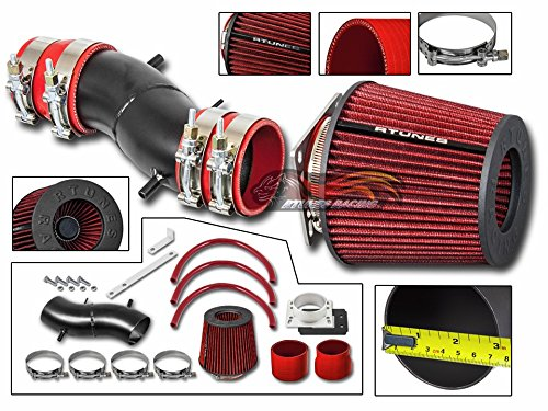R&L racing For 02-06 Nissan Altima 2.5L I4 Matte Black Cold Air Intake System + Filter