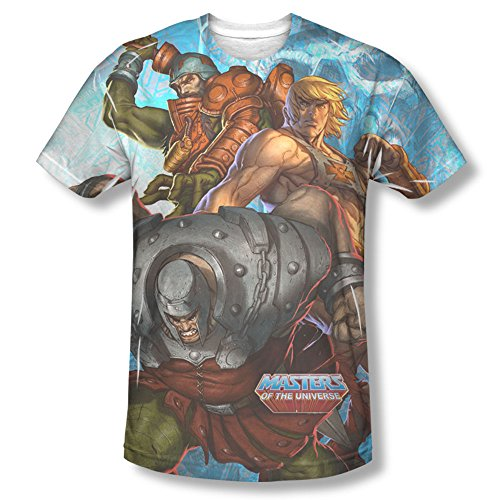 Masters of the Universe - Men's T-Shirt Heroes and Villains , 3XL, White (Heroes And Villains Clothing)