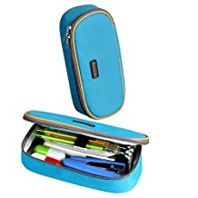 Homecube Magic Good Design Big Capacity Pencil Case Pencil Holder Practical Students Stationery (Blue)