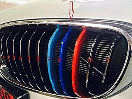 14 Rejillas un Lado ABS 3 Colores Maiqiken 3D Coche Rejillas Frontales Cover Hebilla para 3 Serie E92 E93 318i 320i 325i 328i 330i 335i 320d 325d 2006-2009