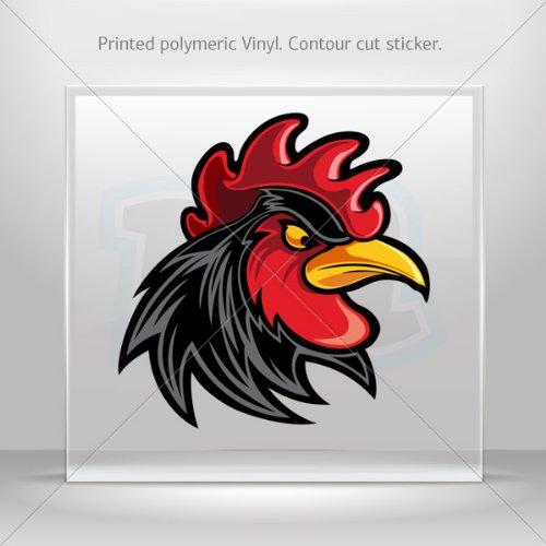 Sp Dinner (Decal Black Rooster Cockerel Gallus Figure Tablet Laptop Waterproof Sp (4 X 3.93 Inches))