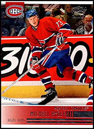 fb28a8059 2004-05 Pacific  141 Michael Ryder Montreal Canadiens Official NHL Hockey  Trading Card