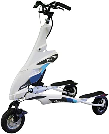 Amazon.com: Trikke White Pon-e - Patinete plegable ...