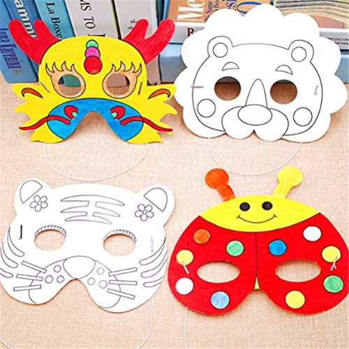 Rocco Drawing Toys . - Cartoon Animal Painting Mask DIY Color ...