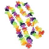 Rainbow Luau Party Lei Set, 4pc