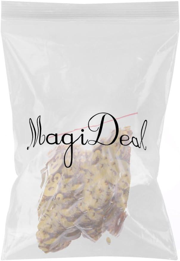 40 MagiDeal Confettis Anniversaire Chiffre Age Plastique Dor/é D/écoration de Table