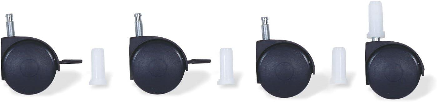 color negro Juego de ruedas para cuna con enganche de pivote Pinolino 560011