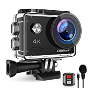 Campark X5 4K Action Camera 20MP WiFi Anti-Shake EIS Waterproof 40M Sports Camera with External MIC Remote Control 2…