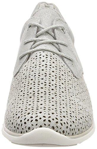 Marco Tætbygget Præmie Sneaker Dame 23728 Grau (lt.Grå Metal.) uzIptlii
