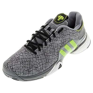 adidas barricade 2016 Hannibal tennis-shoes S74574_7.5 - Grey/Semi Solar Slime/White