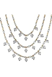 Carolyn Pollack Sterling Silver Mixed Metal Statement Necklace, 16 Inch