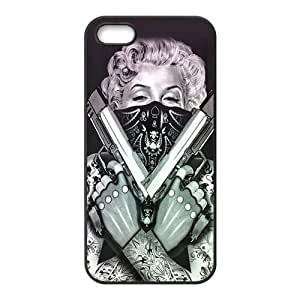 HDSAO Marilyn guns Case Cover For iPhone 5S Case