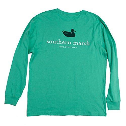 Southern Marsh Jockey Green Authentic Long Sleeve T-shirt-xl