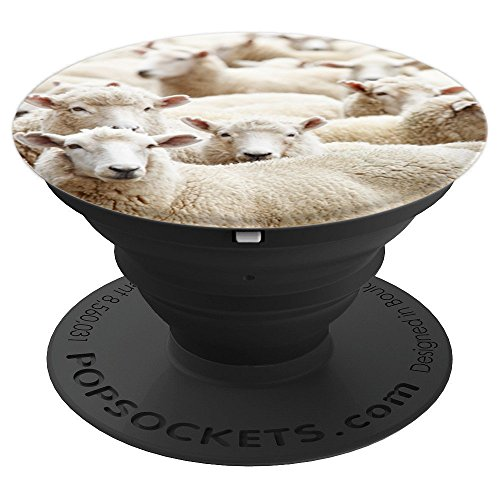 Funny Cute White Sheep Farm Animal Lover Gift Idea - PopSockets Grip and Stand for Phones and Tablets