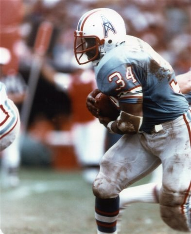 EARL CAMPBELL HOUSTON OILERS 8X10 SPORTS ACTION PHOTO
