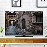 quarter round cord cover - PRUNUS Cord Cover for Wall Mounted tv Barri Gothic Quarter and Bridge of Sighs in Barcelona,Catalonia,Spain Cover Mounted tv W32 x H51 INCH/TV 55