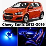 10pcs LED Premium Blue Light Interior Package Deal for Chevy Sonic 2012-2016