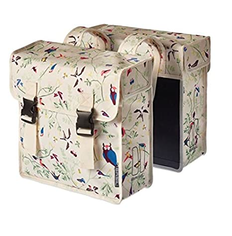 Basil Wanderlust-Double Bag, Double Bag, of Water-Repellent Polyester, 35L, Ivory 17643