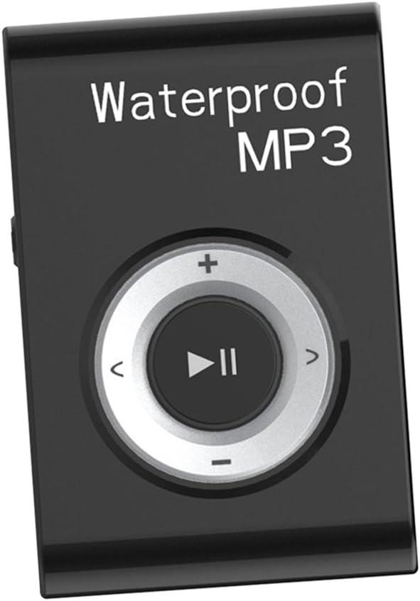 IPOTCH 1x Reproductor de Música MP3 de Memoria 8GB Audio Electronicos con Gancho - Negro