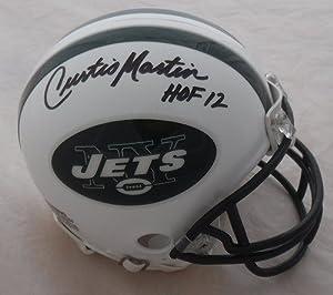 Curtis Martin Signed New York Jets Riddell Mini Helmet HOF 12 - JSA Authenticated - Autographed NFL Mini Helmets