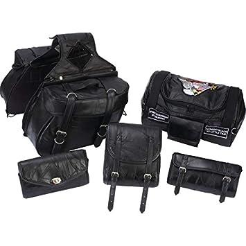 Amazon.com: Diamond Plate 6pc Rock Design Genuine Buffalo Leather ...